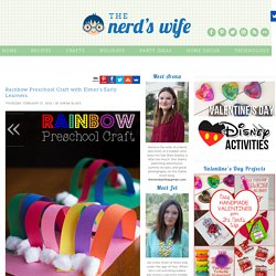 Rainbow Preschool Craft with Elmer's Early Learners - The Nerd's Wife