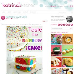 In Katrina's Kitchen: Rainbow Swirl Cake