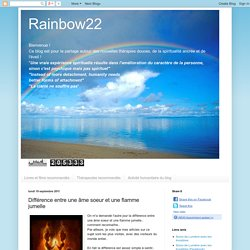 Rainbow22: Différence entre une âme soeur et une flamme jumelle