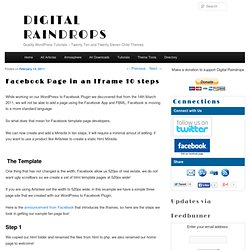 Facebook Page in an IFrame 10 steps | Digital Raindrops
