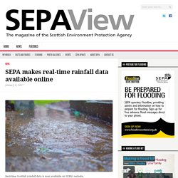 SEPA makes real-time rainfall data available online