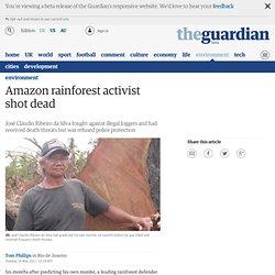 Amazon rainforest activist shot dead