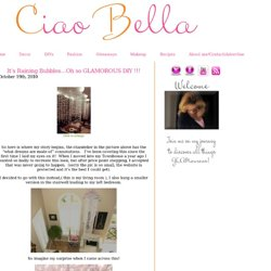 It's Raining Bubbles...Oh so GLAMOROUS DIY !!! | Ciao Bella