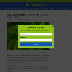 Why RainMakers' Tea is Great for All of Your Plants - Rainmakers Supply