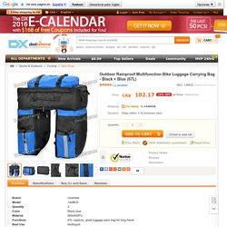 Buy Outdoor Rainproof Multifunction Bike Luggage Carrying Bag - Black + Blue (67L)