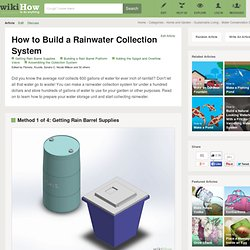 How to Build a Rainwater Collection System: 9 steps