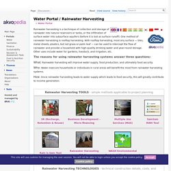Rainwater Harvesting - Akvopedia