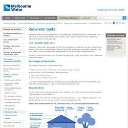 Rainwater tanks - WSUD