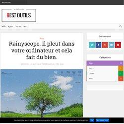 Rainyscope. Il pleut dans votre ordinateur et cela fait du bien. – Best Outils