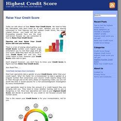 Raise Your Credit Score Archives - Highest Credit Score