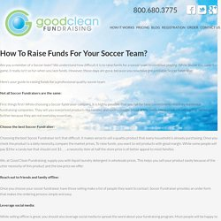 How To Raise Funds For Your Soccer Team?