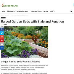 Raised Garden Beds with Style and Function
