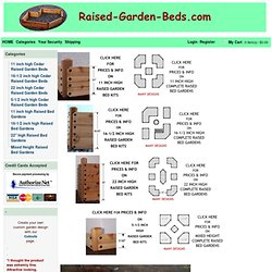 Cedar raised garden bed kits are great for vegetable gardening, flower beds & landscaping ideas.