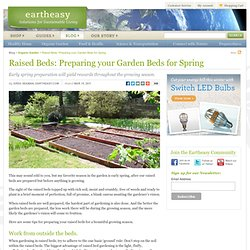 Raised Beds: Preparing your Garden Beds for Spring