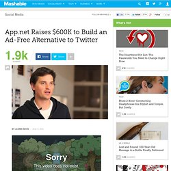 App.net Raises $600K to Build an Ad-Free Alternative to Twitter