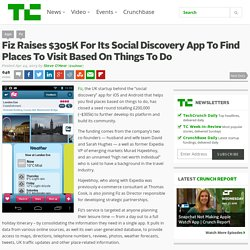 Fiz Raises $305K For Its Social Discovery App To Find Places To Visit Based On Things To Do
