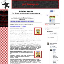 Raising Agents: The Agents which give Lift to your Baking!