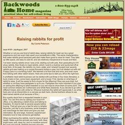 Raising rabbits for profit