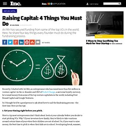 Raising Capital: 4 Things You Must Do