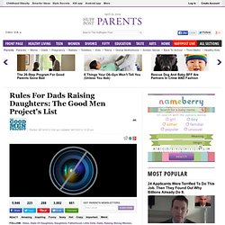 Rules For Dads Raising Daughters: The Good Men Project's List
