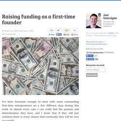 Raising funding as a first-time founder