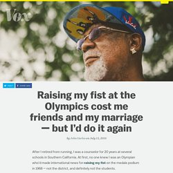 Raising my fist at the Olympics cost me friends and my marriage — but I'd do it again