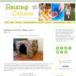 Raising Cajuns: Prehistory Activity: Make a Cave