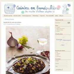 Salade de riz noir aux raisins