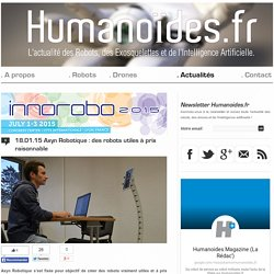 Axyn Robotique : des robots utiles à prix raisonnableRobots, Drones et Intelligence Artificielle
