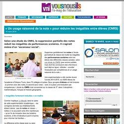 «Un usage raisonné de la note» pour réduire les inégalités entre élèves (CNRS)
