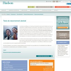 Outils RH: Tests de Raisonnement Abstrait – Belgique
