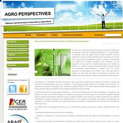INRA - Innovations Agronomiques -DEC 2012- Au sommaire: Vers un raisonnement innovant de la fertilisation phosphatée.