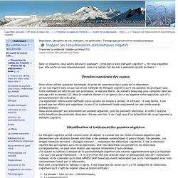 Stopper les raisonnements automatiques négatifs - CoeurNet, des chrétiens à Grenoble