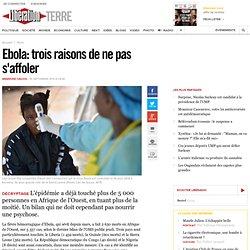 Ebola: trois raisons de ne pas s'affoler