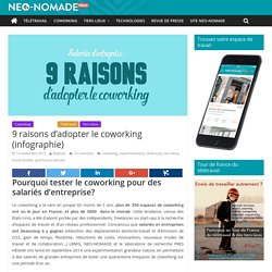 9 raisons d'adopter le coworking (infographie) - Neo-nomade news