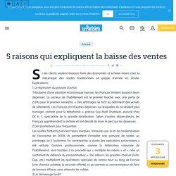 5raisons qui expliquent la baisse des ventes - le Parisien