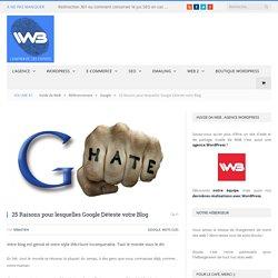 25 Raisons pour lesquelles Google Déteste votre Blog - Blog SEO
