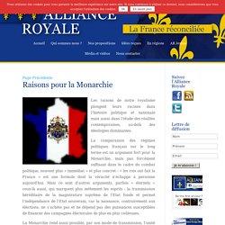 Raisons pour la Monarchie