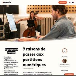 Top 9 des raisons de passer aux partitions numériques ~ Newzik