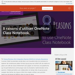 8 raisons d'utiliser OneNote Class Notebook.