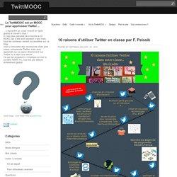 10 raisons d'utiliser Twitter en classe par F. Peissik