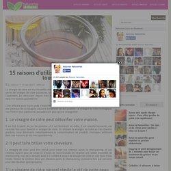 15 raisons d'utiliser du vinaigre de cidre tous les jours