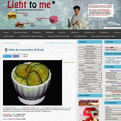 Raïta de concombre (21Kcal)