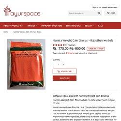 Buy Namira Weight Gain Churan Online - Rajasthan Herbals International