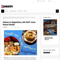 Top 5 Rajasthani Foods