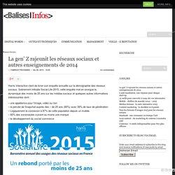 La gen' Z rajeunit les réseaux sociaux et autres enseignements de 2014 - Balises Infos