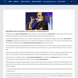 Rajinikanth's Political Exit before Entry - ETG Research