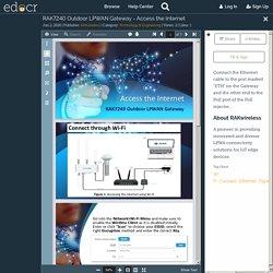 RAK7240 Outdoor LPWAN Gateway - Access the Internet