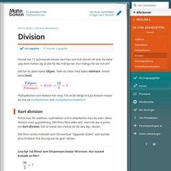Division (Skolår 6, De fyra räknesätten)