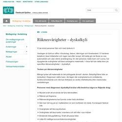 Räknesvårigheter - dyskalkyli - Danderyds sjukhus
